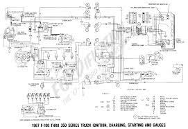 ford truck technical drawings and schematics section h wiring 1967 master wiring diagram 1967 f 100 thru f 350 ignition charging starting and gauges