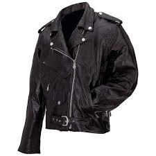 new mens black genuine buffalo leather motorcycle jacket coa