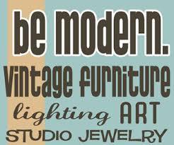 vintage furniture logo. Be Modern Vintage Furniture - Ipswich Ma Logo