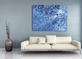 blue white smashed glass urban decay canvas art contemporary wall on blue and white canvas wall art with blue abstract contemporary canvas wall art print of smashed glass