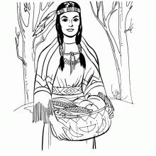 Native American Coloring Page Printable Coloring Book Sheet Online