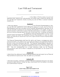 Free legal documents, contracts and forms. Florida Last Will And Testament Form Pdf Pdfsimpli