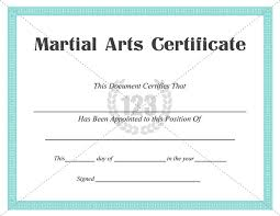 martial arts certificate template best martial arts certificate templates for free download now