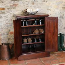 classic brown varnished mahogany wood shoe cabinet delightful shoe storage cabinet with doors furniture