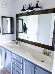Farmhouse Style DIY Vanity Mirrors Tutorial Must Have Mom