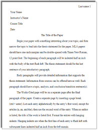Mla Essay Heading What Does An Mla Paper Look Like Cwi