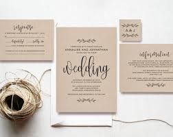 kraft wedding invitation printable rustic invitation set cheap  kraft wedding invitation printable rustic invitation set cheap invitation diy kraft pdf instant bliss paper boutique