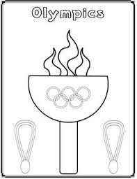 Olympics Coloring Page Tpt Free Lessons Olympic Crafts