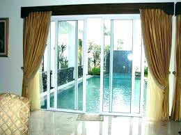 slider door curtain rods sliding covering ideas patio awesome curtains for doors with glass inspiration blinds