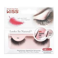 <b>Накладные ресницы</b> Kiss <b>Looks so</b> Natural Eyelashes Hot (KFL07C)