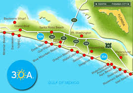 map of scenic a and south walton florida  a