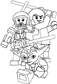 Yoda And The Two Friends Coloring