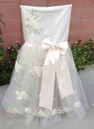 bridal chair cover wedding chair sheer chair cover shabby chic wedding fl