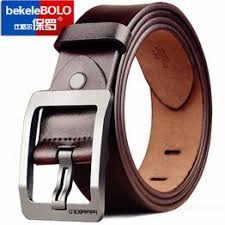 Belt male pin buckle leather business leather youth belt with ... - Vova