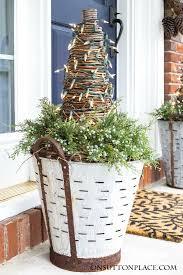 front door decorationChristmas Front Door Decor  Juniper  Pinecones  On Sutton Place