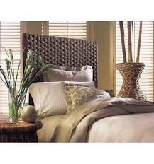 Pier One White Wicker Bedroom Furniture Brown Wicker Pier One Headboard With Luxury Twin Size Bed And