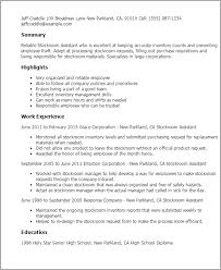 Employee Of The Month On Resume Stockroom Assistant Resume Template Best Design Tips