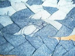 how to make a rag rug braided denim rag rug step 8