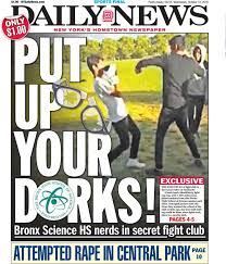 bronx school apologizes to newser for fight club threats ny  students at the school lost their minds after the news exposed their fight club