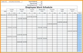 Monthly Planner Excel Timetable Calendar Template Excel Employee Schedule Shift Monthly
