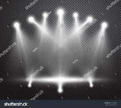 special lighting. realistic stage lighting vector background group of bright projectors isolated on checkered backdrop special y