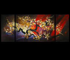 canvas prints wall decor abstract art framed wall art cherry blossom