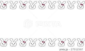 うさぎのラインのイラスト素材 27512507 Pixta