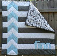Modern Personalized Chevron Quilt For Baby Boy By Shelsy On Etsy ... & Modern Personalized Chevron Quilt For Baby Boy By Shelsy On Etsy Quilts And  Coverlets Full Size Adamdwight.com