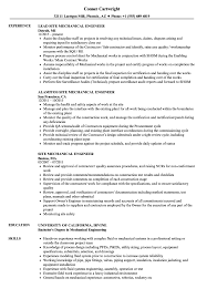 mechanical sample resume mechanical site engineer resume samples velvet jobs
