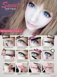 make up doll big eyes
