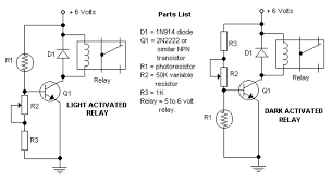 light fence ldr schematic design dark and light activated relay