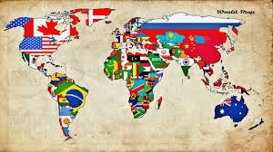 Map Of The World Background Map World Countries Flag Wallpaper And Background