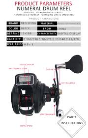Us 45 99 40 Off Reelsking 13 1 Ball Bearing Left Right Gear Ratio 6 3 1 Fishing Reel With Digital Display Baitcasting Line Counter Reel In Fishing