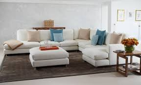 contemporary modular sofa furniture white fabric modern sectional sofa white fabric ottoman coffee table brown varnished