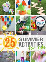 outdoor activities for kids. 25 Outdoor Summer Activities For Kids | Via Make It And Love