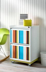 File Cabinet Paint Colorful Striped Diy File Cabinet Diycandycom