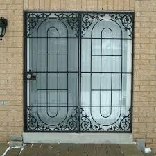 security doors for sliding glass doors wrought iron security screen doors sliding patio door gate folding