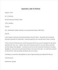 Sample Application Letter for Referral