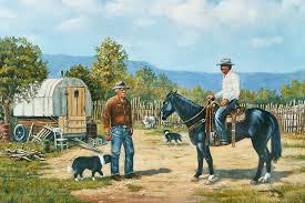A Friendly Visit Painting by Wanda Coffey