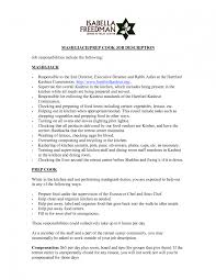 Chef Resume Examples Lead Line Cook Sample 09 Execlevel Executiv