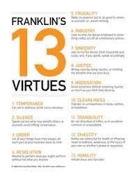 25 Best 13 Virtues Images Benjamin Franklin Words Ben