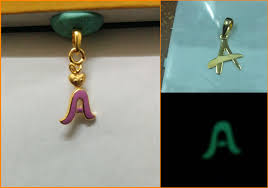 letter a gold pendant design made by augrav for customers