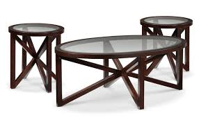 asterix coffee table and two end tables espresso leon s furniture
