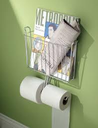 Toilet Roll Holder Magazine Rack Interdesign Wall Mount Magazine Rack With Tissue Paper Holder In 76
