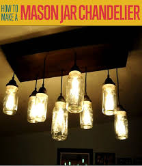 how to make a mason jar chandelier s diyprojects com