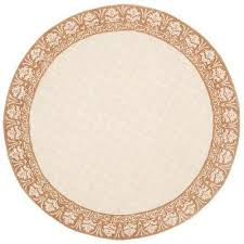 total performance ivory cream 6 ft x 6 ft round area rug