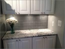 grey subway tile backsplash home design ideas light blue walls white kitchen cabinets