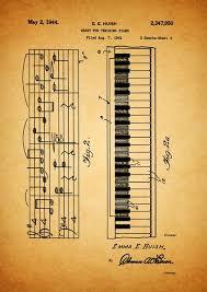 Installieren virtuelle klaviertastatur auf ihrem windows pc oder mac laptop / desktop müssen sie einen herunterladen virtuelle klaviertastatur für pc. Klavier Piano Druck Patent Vintage Karte Klavier Klavier Spielen Lernen Akkordeon