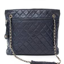 Labellov Vintage Chanel Navy Quilted Lambskin Tote ○ Buy and Sell ... & Vintage Chanel Navy Quilted Lambskin Tote. Buy authentic secondhand Chanel  bags at the right price Adamdwight.com