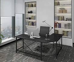 Home office table designs Corner Image Unavailable Amazoncom Amazoncom Modern Computer Desk Shaped Corner Desk Home Office